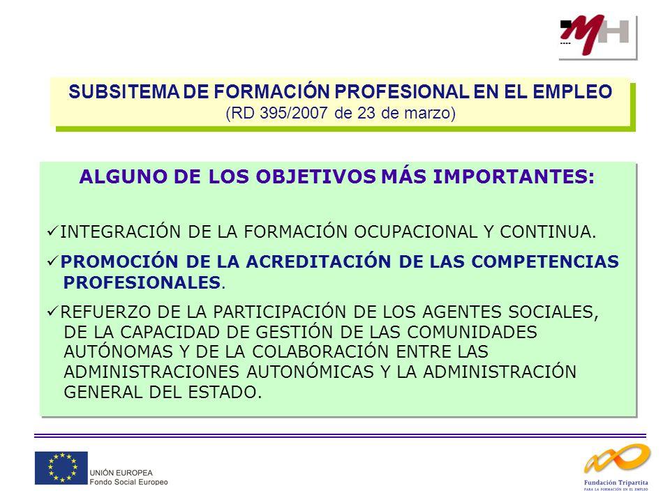 FORMACIÓN DE DEMANDA FORMACIÓN DE OFERTA (ORDEN TAS/718/2008, de 7 de marzo) ACCIONES DE APOYO Y ACOMPAÑAMIENTO A LA FORMACIÓN AA.