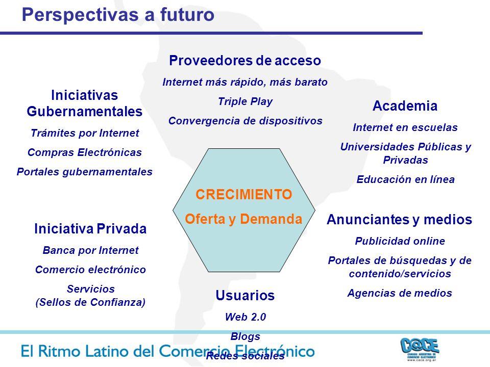CRECIMIENTO Oferta y Demanda Perspectivas a futuro Anunciantes y medios Publicidad online Portales de búsquedas y de contenido/servicios Agencias de m