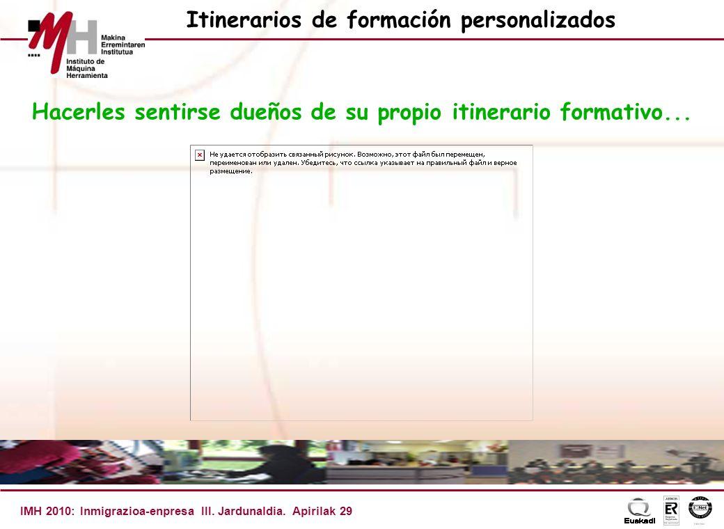 IMH 2010: Inmigrazioa-enpresa III. Jardunaldia.