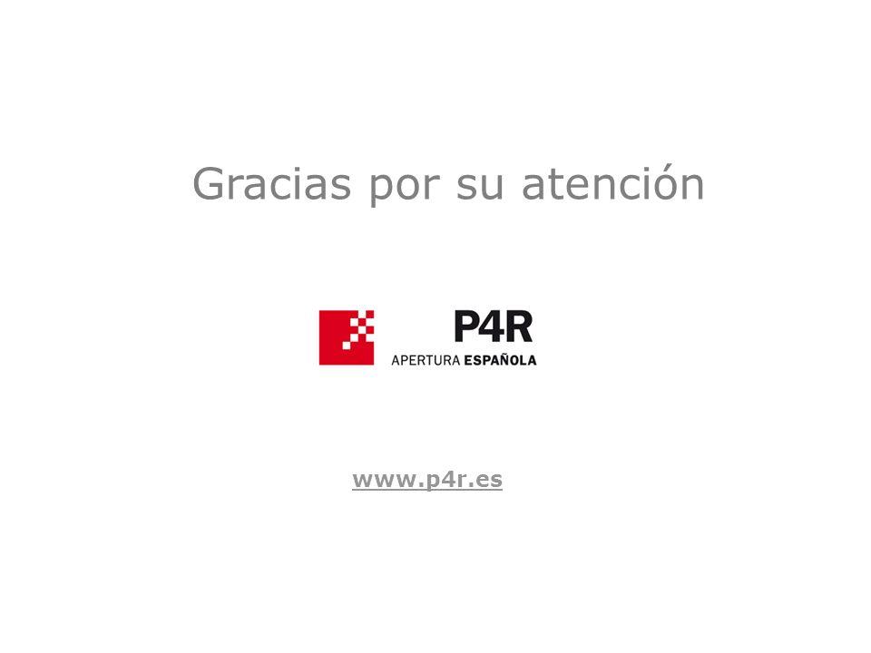 Gracias por su atención www.p4r.es