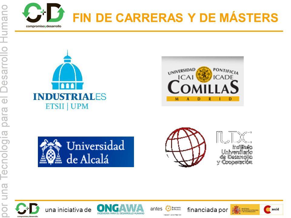 una iniciativa definanciada por Asociación para el Desarrollo antes FIN DE CARRERAS Y DE MÁSTERS