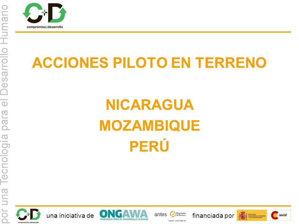 una iniciativa definanciada por Asociación para el Desarrollo antes ACCIONES PILOTO EN TERRENO NICARAGUA MOZAMBIQUE PERÚ