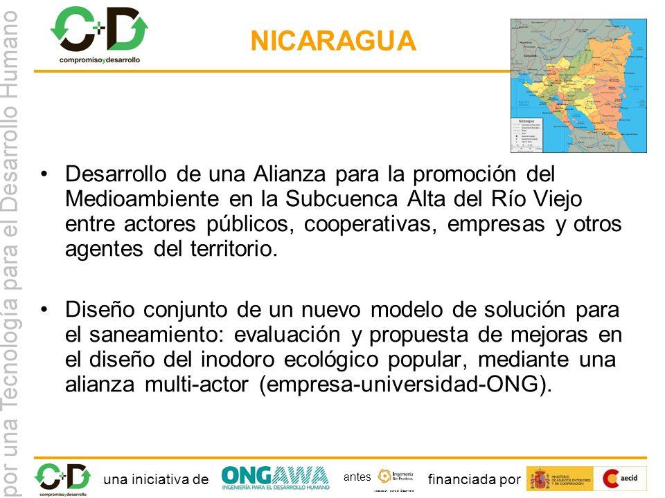una iniciativa definanciada por Asociación para el Desarrollo antes NICARAGUA Desarrollo de una Alianza para la promoción del Medioambiente en la Subcuenca Alta del Río Viejo entre actores públicos, cooperativas, empresas y otros agentes del territorio.