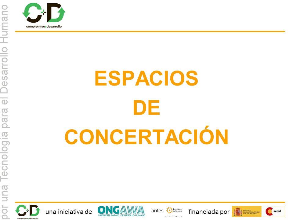 una iniciativa definanciada por Asociación para el Desarrollo antes ESPACIOS DE CONCERTACIÓN
