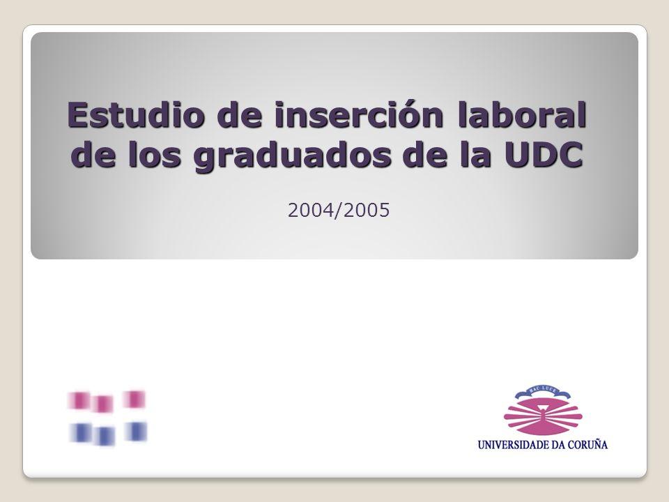 Estudio de inserción laboral de los graduados de la UDC 2004/2005