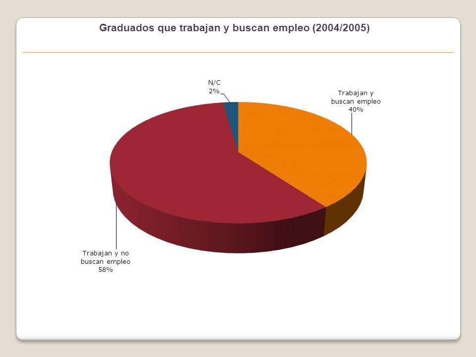Graduados que trabajan actualmente (2004/2005)