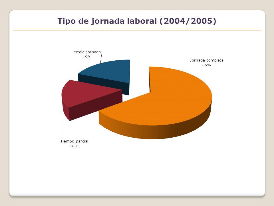 Tipo de jornada laboral (2004/2005)