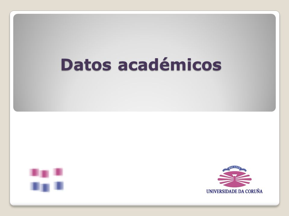 Datos académicos