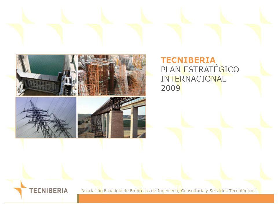 Asociación Española de Empresas de Ingeniería, Consultoría y Servicios Tecnológicos INDICE 1.EVOLUCIÓN DE LOS SERVICIOS DE INTERNACIONALIZACIÓN DE TECNIBERIA 2003 – 2008 2.PLAN ESTRATÉGICO INTERNACIONAL 2009 3.PLAN SECTORIAL ICEX 2009