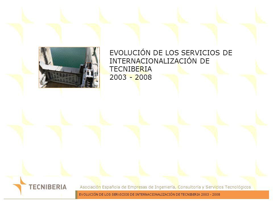 Asociación Española de Empresas de Ingeniería, Consultoría y Servicios Tecnológicos EVOLUCIÓN DE LOS SERVICIOS DE INTERNACIONALIZACIÓN DE TECNIBERIA 2