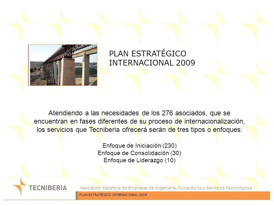 Asociación Española de Empresas de Ingeniería, Consultoría y Servicios Tecnológicos PLAN ESTRATÉGICO INTERNACIONAL 2009 Atendiendo a las necesidades d