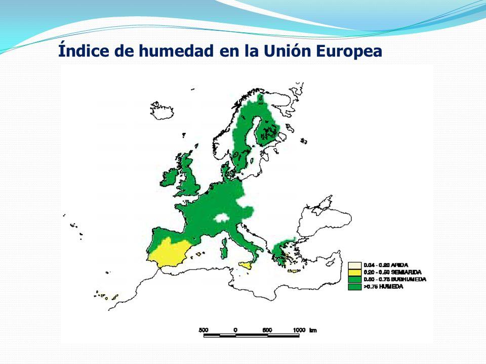Índice de humedad en la Unión Europea