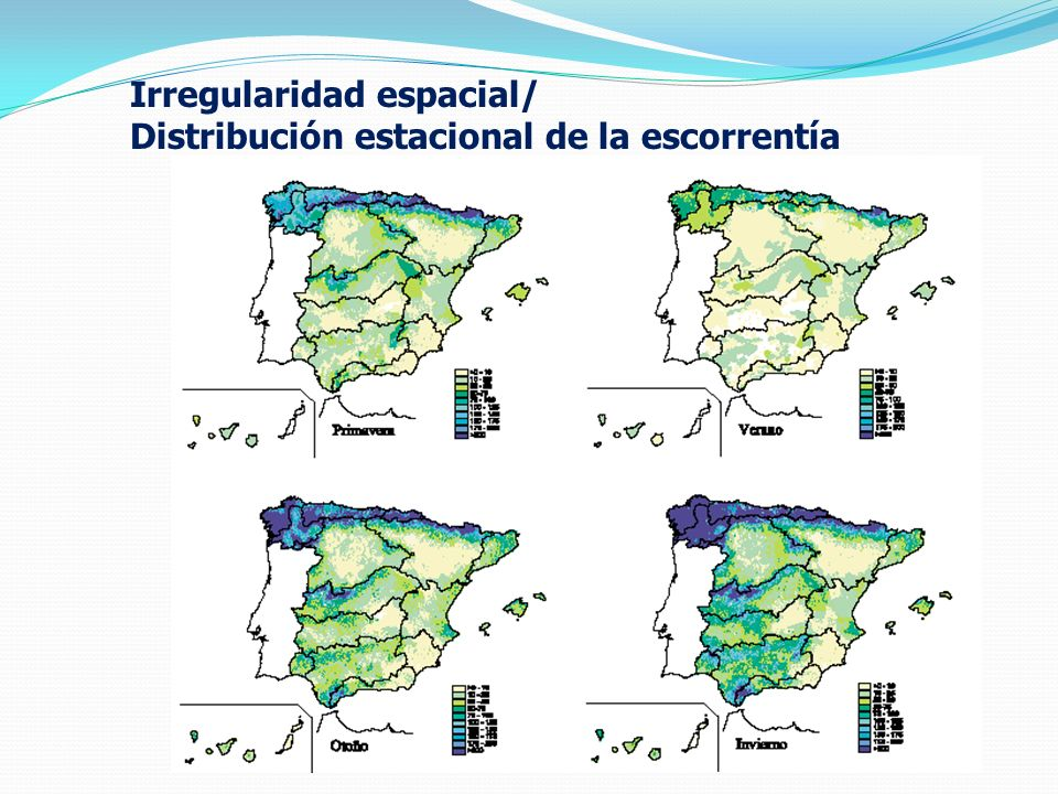 october 2008 Irregularidad espacial/ Distribución estacional de la escorrentía