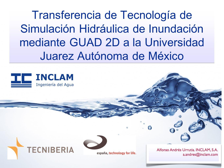 Transferencia de Tecnología de Simulación Hidráulica de Inundación mediante GUAD 2D a la Universidad Juarez Autónoma de México