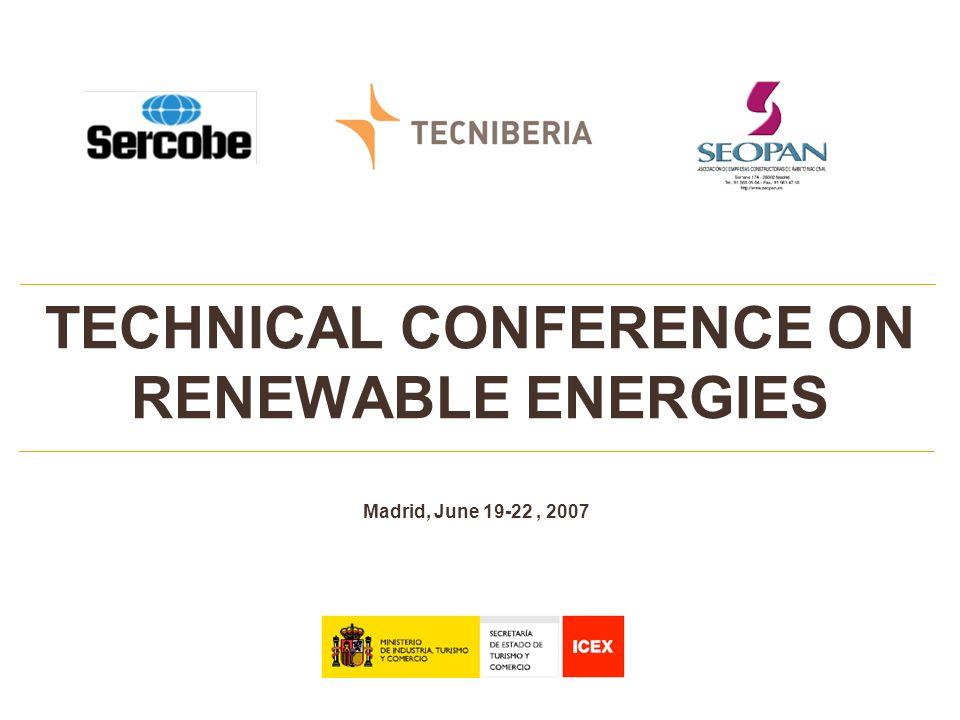 TECHNICAL CONFERENCE ON RENEWABLE ENERGIES 12 REPORTAJE FOTOGRÁFICO MONTAJE PARQUE 3.