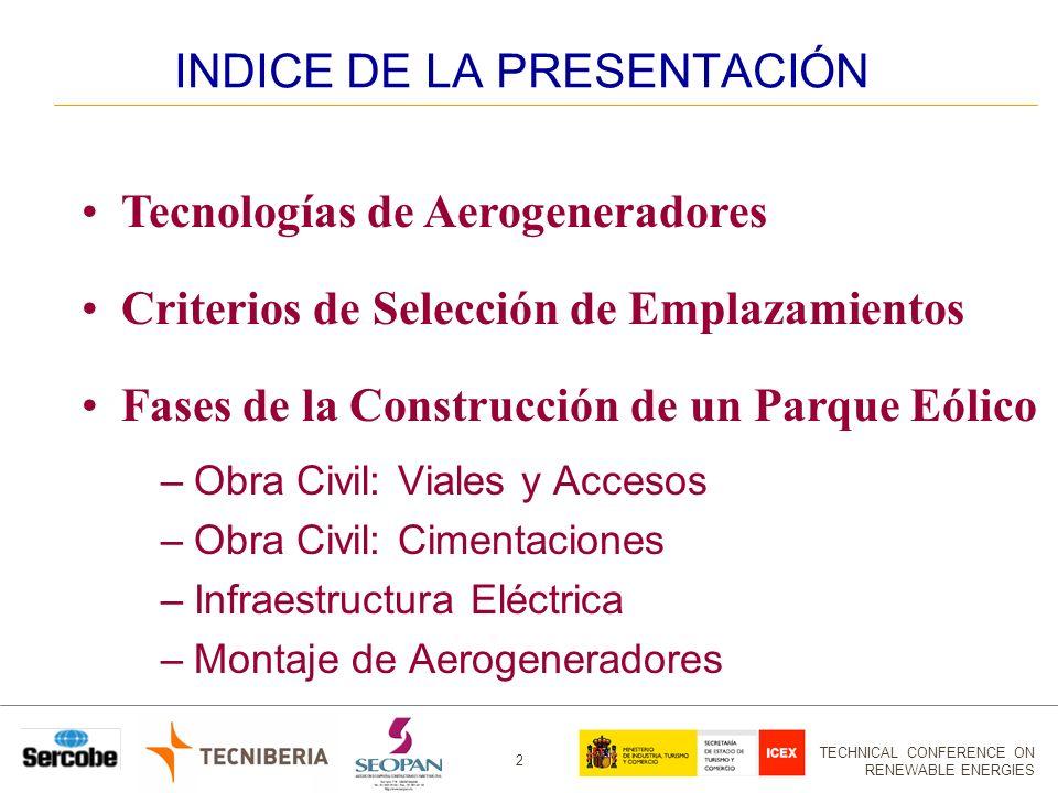 TECHNICAL CONFERENCE ON RENEWABLE ENERGIES 3 EVOLUCIÓN TAMAÑOS MÁQUINAS 1.