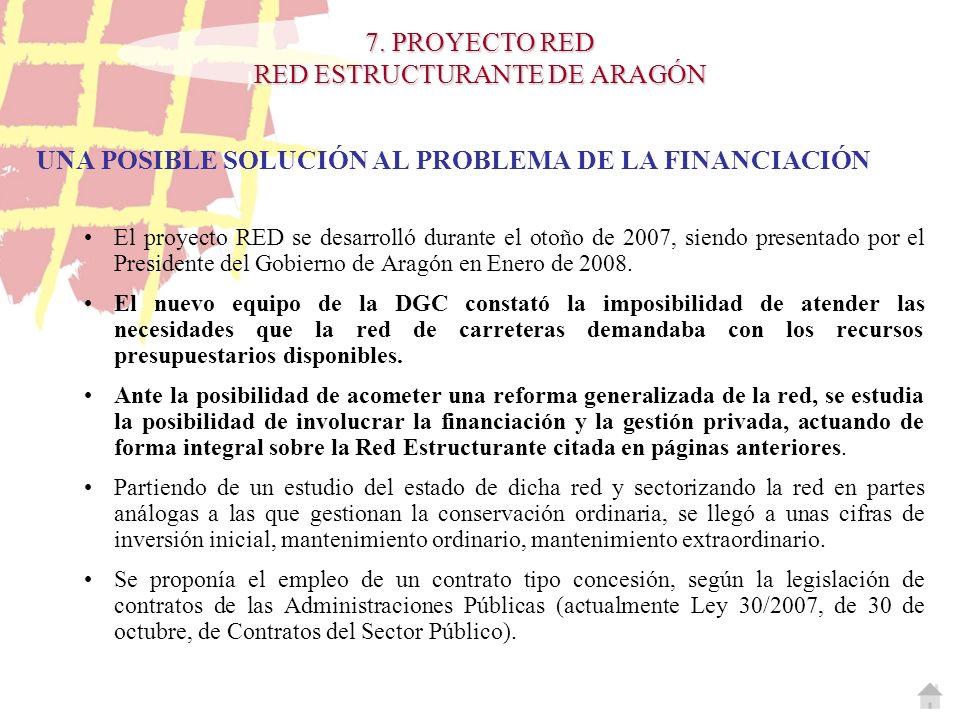UNA POSIBLE SOLUCIÓN AL PROBLEMA DE LA FINANCIACIÓN El proyecto RED se desarrolló durante el otoño de 2007, siendo presentado por el Presidente del Go