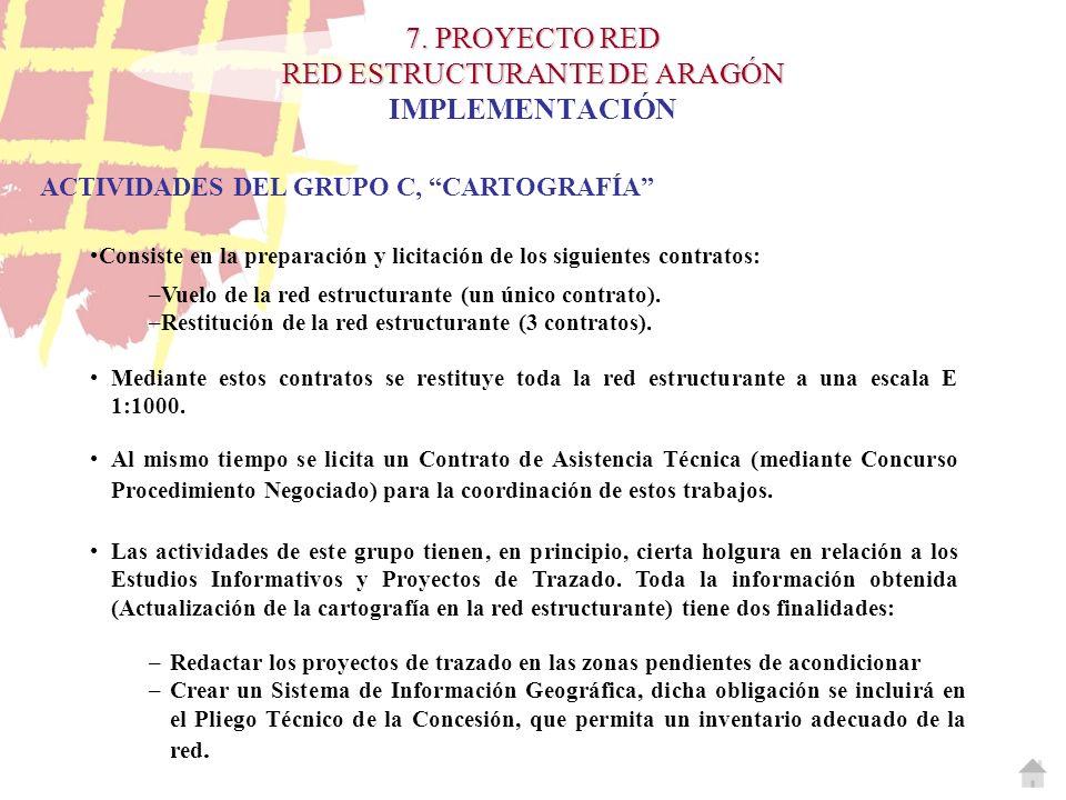7. PROYECTO RED RED ESTRUCTURANTE DE ARAGÓN 7. PROYECTO RED RED ESTRUCTURANTE DE ARAGÓN IMPLEMENTACIÓN ACTIVIDADES DEL GRUPO C, CARTOGRAFÍA Consiste e