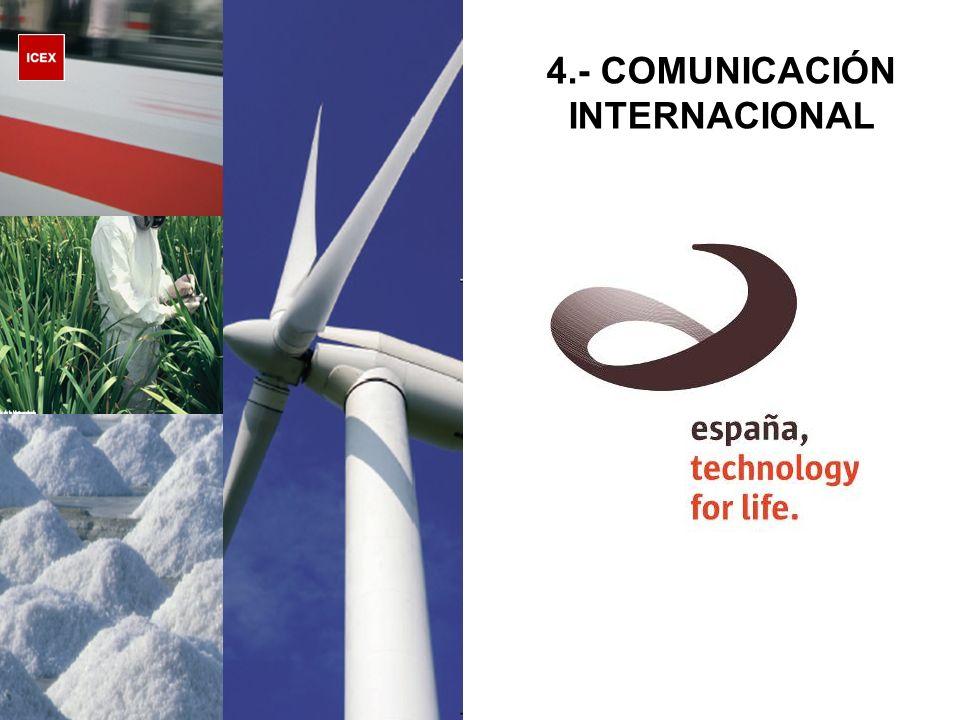 4.- COMUNICACIÓN INTERNACIONAL