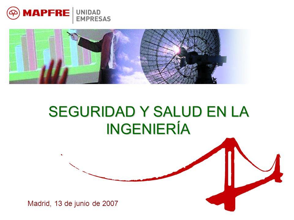 SEGURIDAD Y SALUD EN LA INGENIERÍA Madrid, 13 de junio de 2007