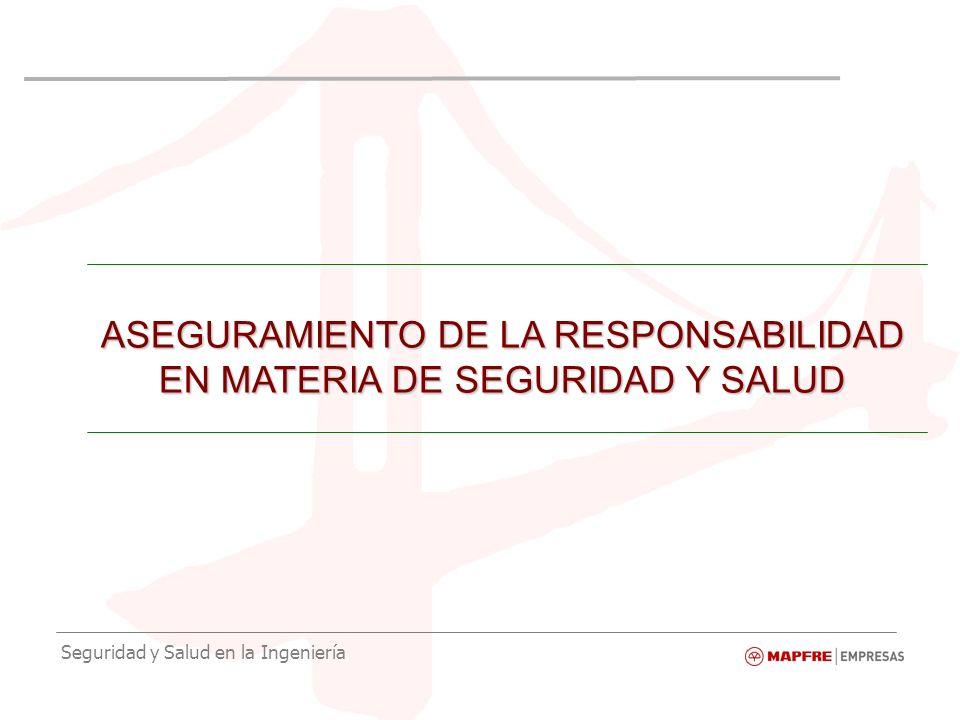 Seguridad y Salud en la Ingeniería ASEGURAMIENTO DE LA RESPONSABILIDAD EN MATERIA DE SEGURIDAD Y SALUD