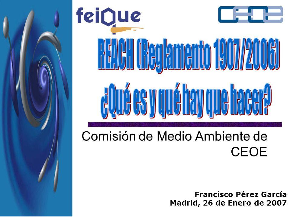 Comisión de Medio Ambiente de CEOE Francisco Pérez García Madrid, 26 de Enero de 2007