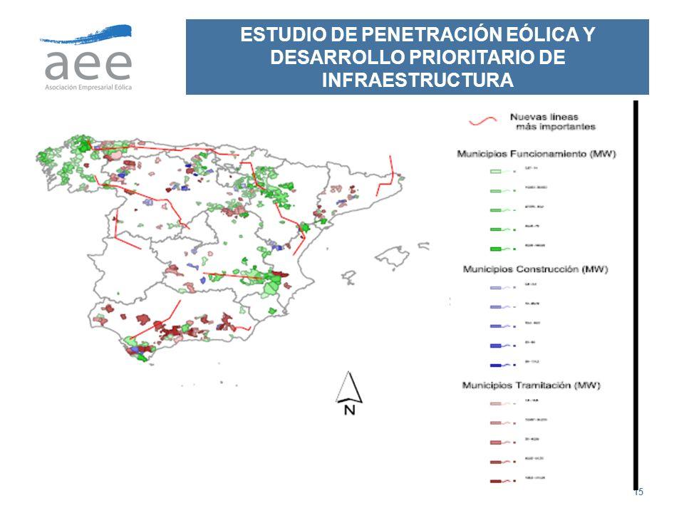 15 ESTUDIO DE PENETRACIÓN EÓLICA Y DESARROLLO PRIORITARIO DE INFRAESTRUCTURA