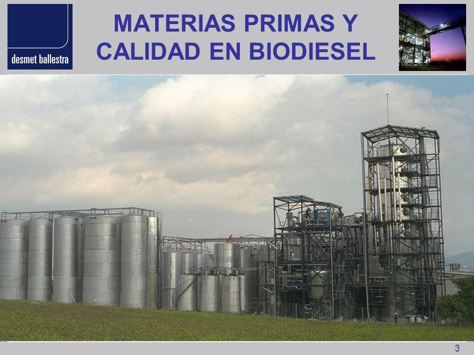 14 PRODUCCION MUNDIAL DE GLICERINA 19921995199920032005200620082010 Jaboneria20820119818016015013090 Acidos Grasos 268286322350410430475515 Biodiesel640571503695301.1501.600 Acoholes Grasos 7899108110130152250260 Sintética7880758020--- Otros15545035201520 TOTAL6387308049201.1231.2822.0252.485