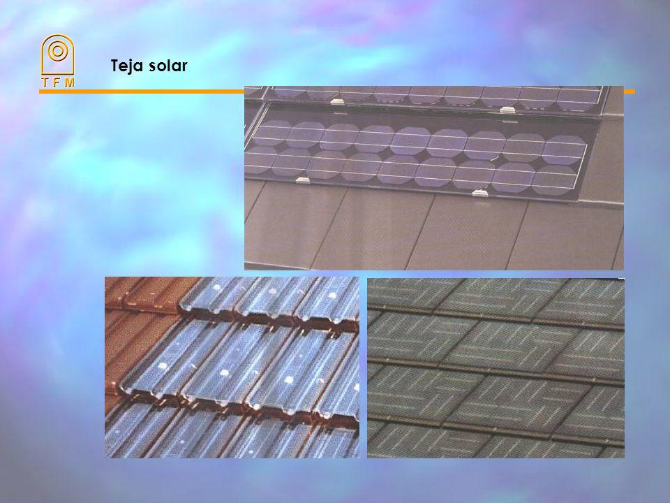 Integración en edificios Fotovoltaica es muy fácilmente integrable en el entorno urbano y en edificios.