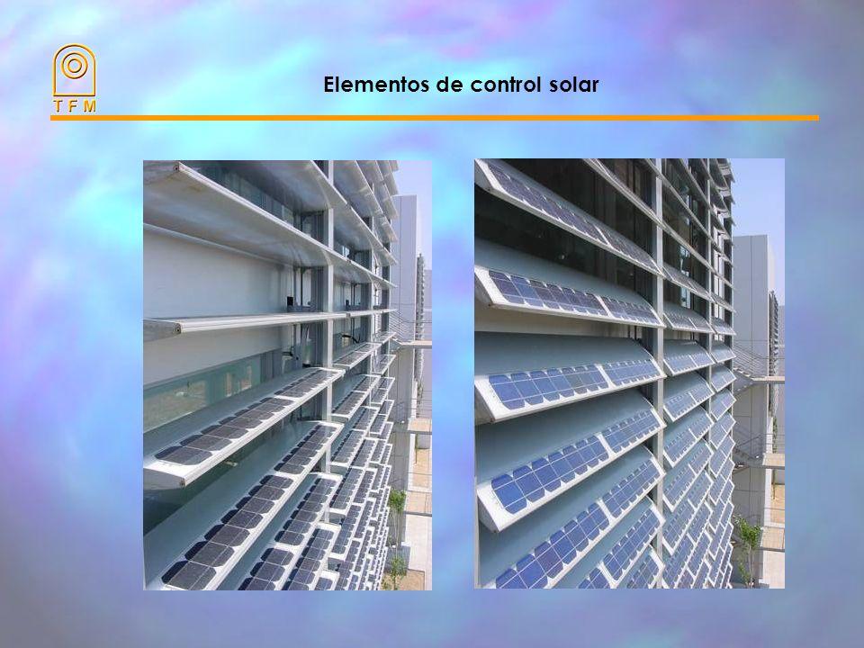 Orientación/Inclinación del campo fotovoltaico Radiación solar anual en % sobre el óptimo (Barcelona) Vertical Inclinación Horizontal Oeste Orientación respecto al Sur Este Restaurant y Escaleras Oficinas