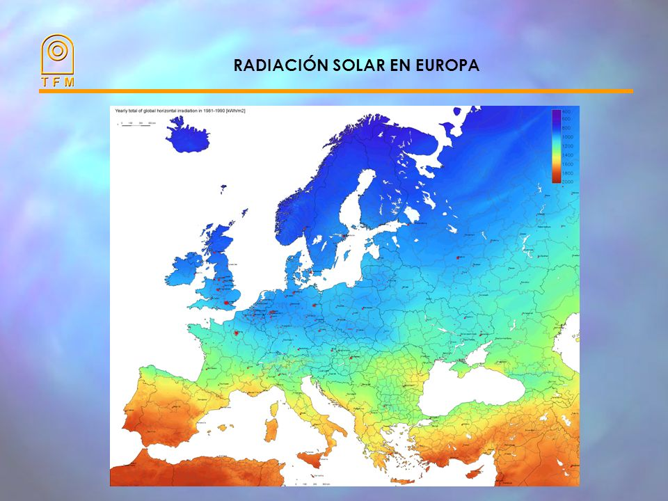 ENERGIA SOLAR (kWh/m 2 ) HARÀ EL SOL PREVISTO ? Datos estadísticos ANÀLISI DE RIESGOS