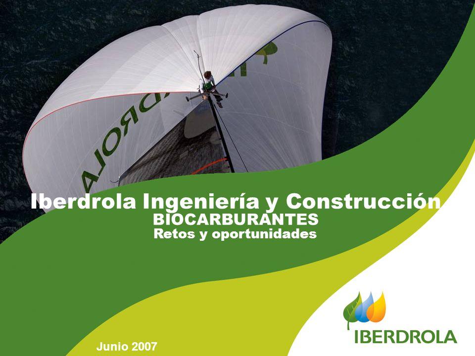 Iberdrola Ingeniería y Construcción BIOCARBURANTES Retos y oportunidades Junio 2007