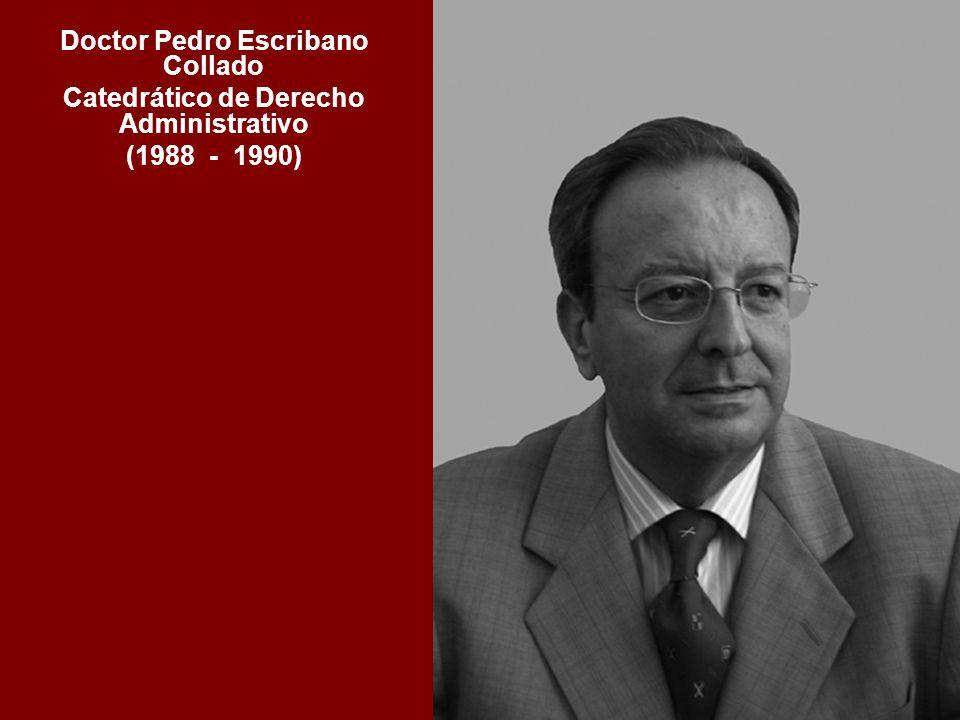 Doctor Pedro Escribano Collado Catedrático de Derecho Administrativo (1988 - 1990)