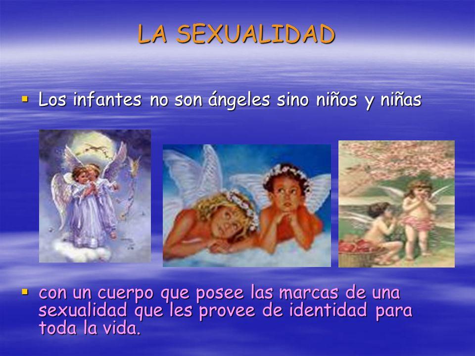 LA SEXUALIDAD Los infantes no son ángeles sino niños y niñas Los infantes no son ángeles sino niños y niñas con un cuerpo que posee las marcas de una