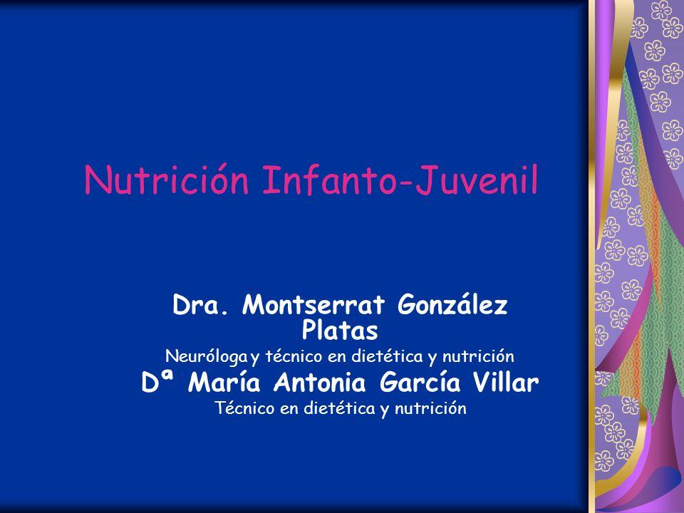 PROGRAMA DE EDUCACIÓN PARA LA SALUD p r o g r a m a e p s @ c o m t f. e s Nutrición Infanto-Juvenil Montserrat González Platas María Antonia García V