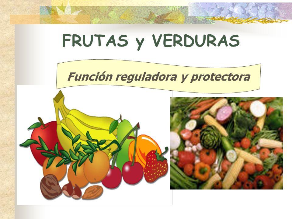 FRUTAS y VERDURAS Función reguladora y protectora