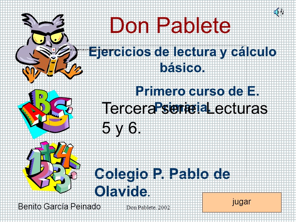 Don Pablete. 2002 Letra g jugarsalir