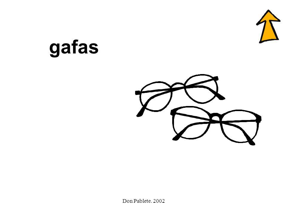 Don Pablete. 2002 galgo gafas agua gusano gato