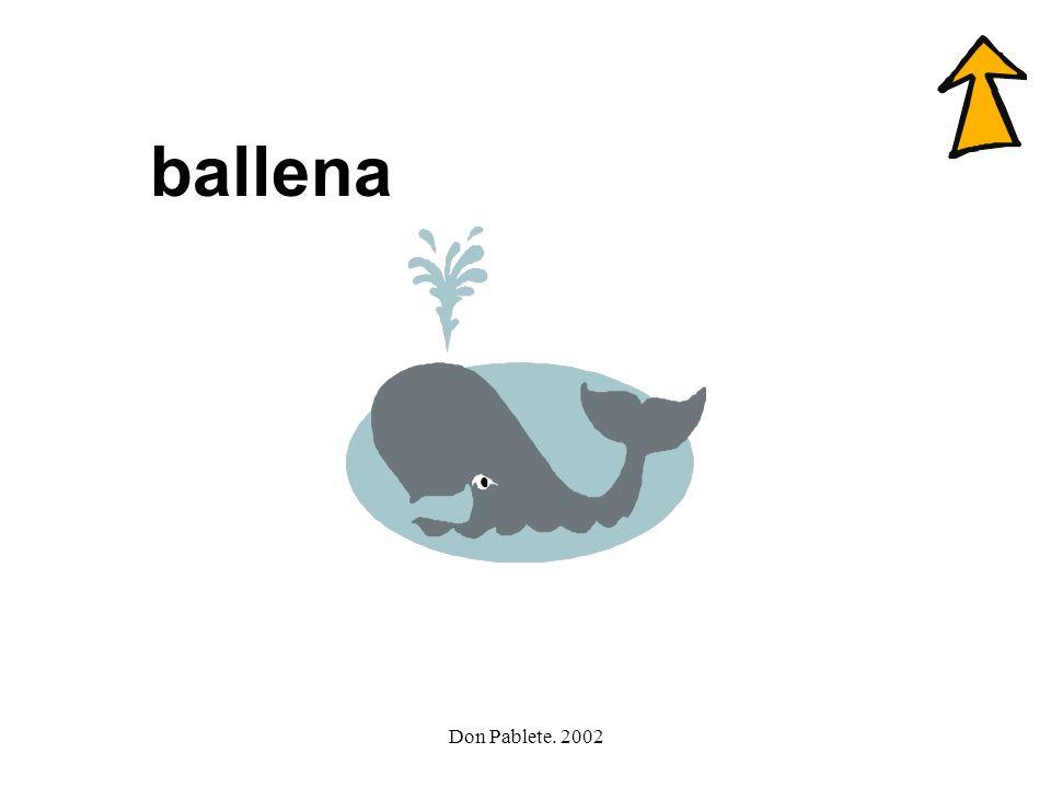 Don Pablete. 2002 camello ballena botella llave lluvia