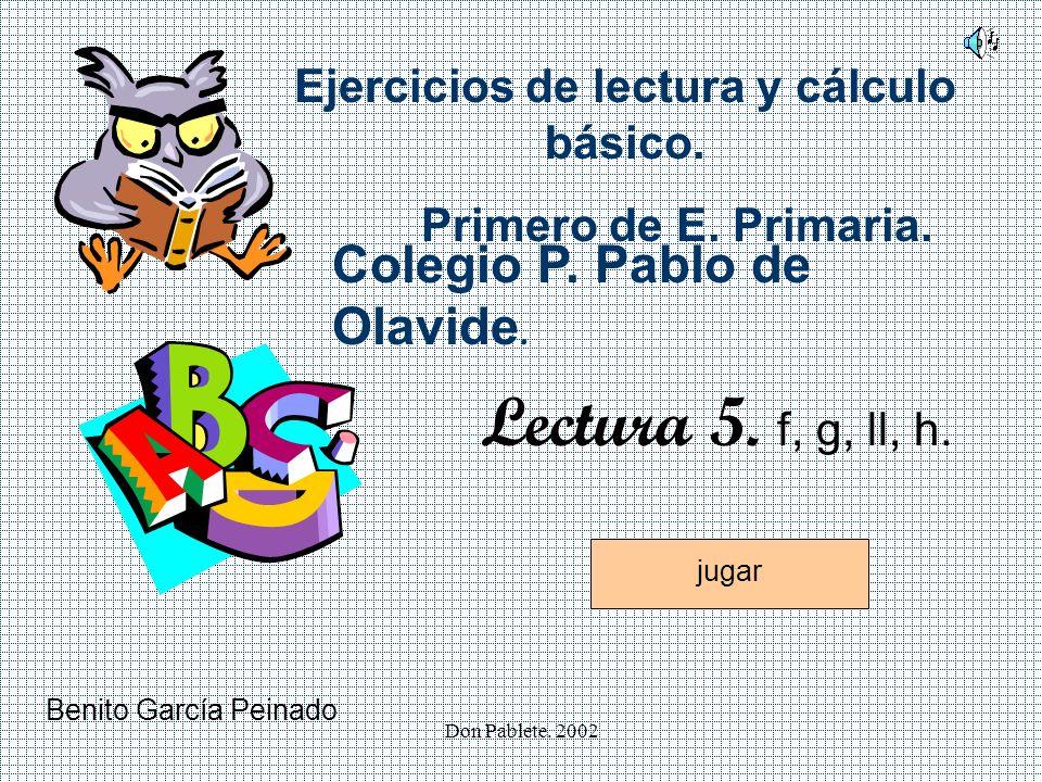 Don Pablete.2002 Ejercicios de lectura y cálculo básico.