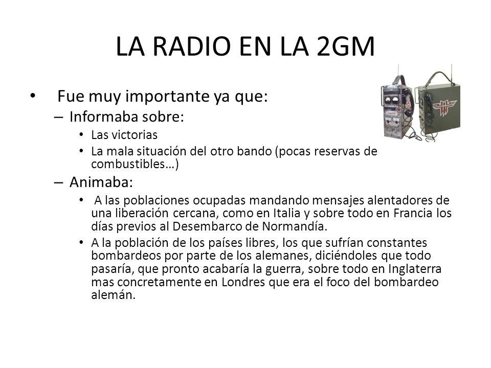 La radio actualmente En los últimos años hemos asistido a una evolución rápida e intensa de la tecnología utilizada en la radio.