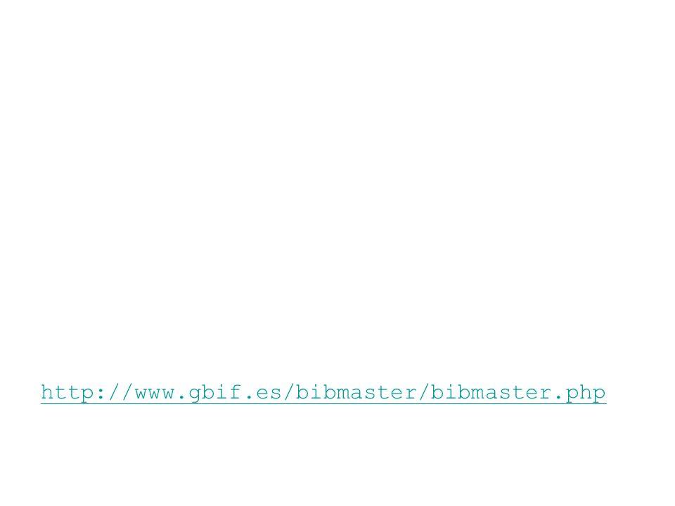 http://www.gbif.es/bibmaster/bibmaster.php
