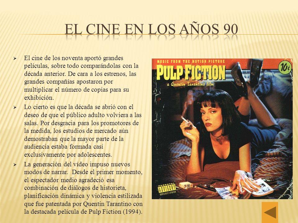 El cine de los noventa aportó grandes películas, sobre todo comparándolas con la década anterior. De cara a los estrenos, las grandes compañías aposta
