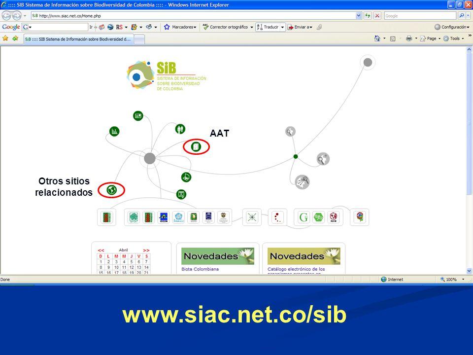 www.siac.net.co/sib Otros sitios relacionados AAT