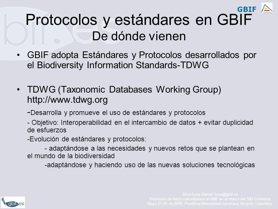 GBIF Protocolos y estándares en GBIF Dónde se integran. Arquitectura GBIF