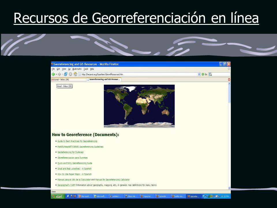 Recursos de Georreferenciación en línea
