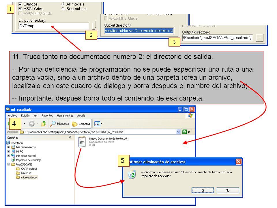 11. Truco tonto no documentado número 2: el directorio de salida. -- Por una deficiencia de programación no se puede especificar una ruta a una carpet