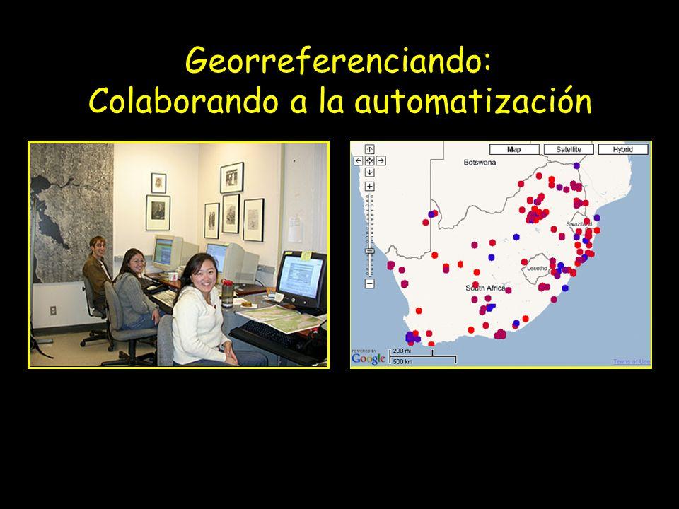 Georreferenciando: Colaborando a la automatización