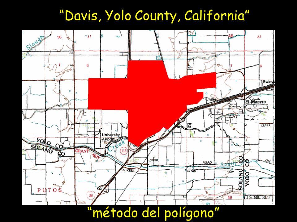 Davis, Yolo County, California método del polígono