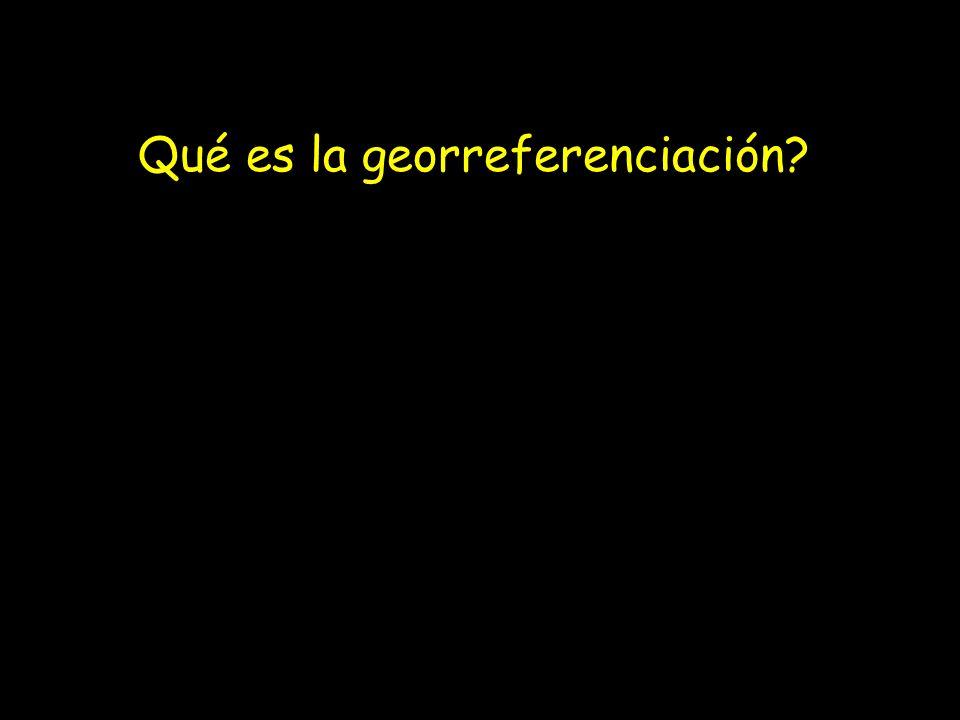 Qué es la georreferenciación